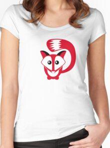 cute fox Women's Fitted Scoop T-Shirt