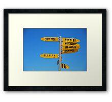 Where to go? Framed Print