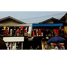 Street Shops Lagos  3 Photographic Print