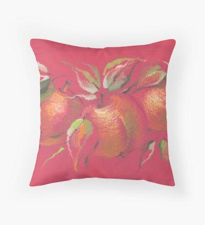 Winter Apples Throw Pillow