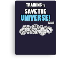 The Doctor - Training to Save the Universe! Canvas Print
