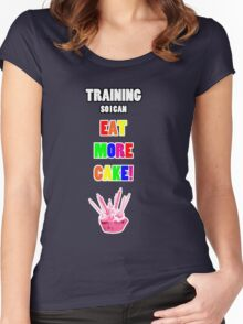 Training So I Can Eat More Cake! Women's Fitted Scoop T-Shirt