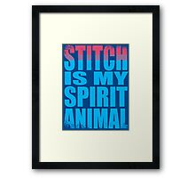 Stitch is my Spirit Animal Framed Print