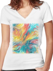 Abstract Colors II Women's Fitted V-Neck T-Shirt