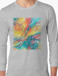 Abstract Colors II Long Sleeve T-Shirt