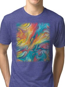 Abstract Colors II Tri-blend T-Shirt