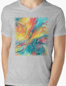 Abstract Colors II Mens V-Neck T-Shirt