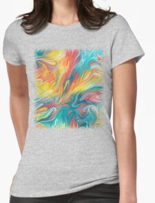 Abstract Colors II Womens Fitted T-Shirt