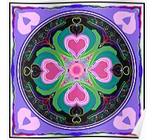 Flourishing hearts kaleidoscope Poster