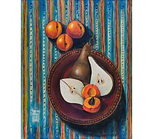 Bosc Pears and Apricots for Elaine Photographic Print