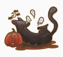 Playful Halloween Kitty Kids Clothes