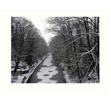 Frozen Canal scene Art Print