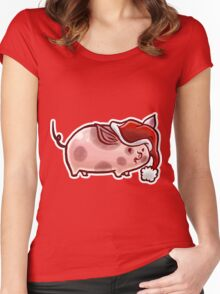 Holiday Pig Women's Fitted Scoop T-Shirt