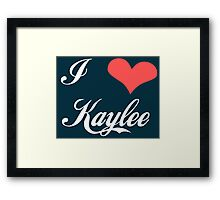 Firefly: I Heart Kaylee for Dark Backgrounds Framed Print