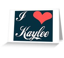 Firefly: I Heart Kaylee for Dark Backgrounds Greeting Card