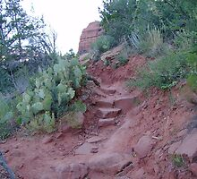 A Stairway In the Red Rocks by Valerie Howell