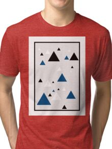 Triangle Blue - 1 Tri-blend T-Shirt