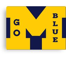 M Go Blue in Gold Canvas Print