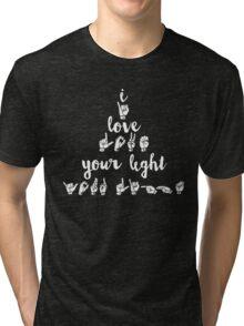 I Love Your Light - Navy Tri-blend T-Shirt