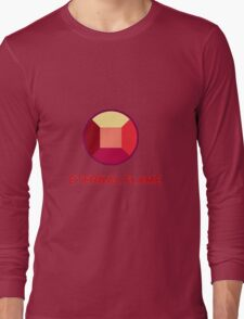 Eternal Flame - Ruby from Steven Universe Long Sleeve T-Shirt