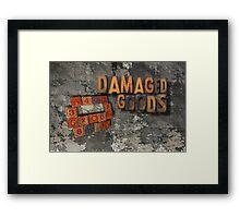 damaged goods calendar front cover Framed Print
