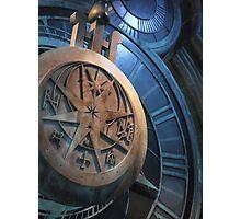 Hogwarts Swinging Clock Photographic Print