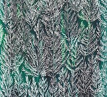 Snow Pines (Dark Green) by SuburbanBirdDesigns By Kanika Mathur