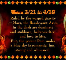 Valxart Gothic Aries zodiac astrology Born 3/21 to 4/19  by Valxart