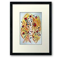Fire of Roses - Arcadia Tempest Framed Print