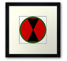 Logo of the 7th Infantry Division, U.S. Army Framed Print