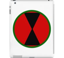 Logo of the 7th Infantry Division, U.S. Army iPad Case/Skin