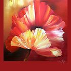 poppy Papaver orientale flower oil painting by Veera Pfaffli