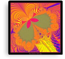 Psychedelic Butterfly Explosion Fractal Canvas Print