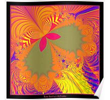 Psychedelic Butterfly Explosion Fractal Poster