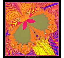 Psychedelic Butterfly Explosion Fractal Photographic Print