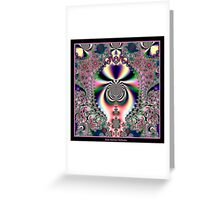 Psychedelic Dreams Fractal Greeting Card