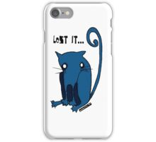 "Blue Kitty - ""Lost it...."" iPhone Case/Skin"