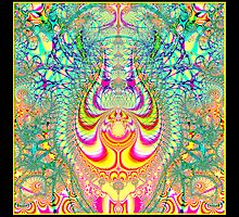 Psychedelic Topsy-Turvy Thoughts Fractal by Rose Santuci-Sofranko