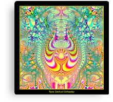 Psychedelic Topsy-Turvy Thoughts Fractal Canvas Print