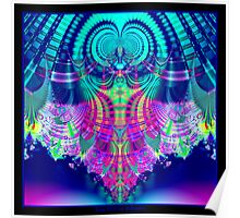 Multicolored Plaid Delight Fractal Poster