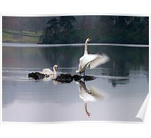 Dawn Display on Rydal Water, English Lake District Poster