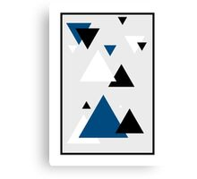 Triangle Blue - 2 Canvas Print