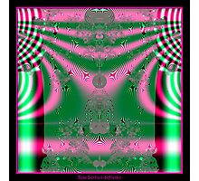 Kimono in Pink and Green Fractal Photographic Print