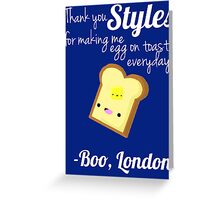 Thank you, Styles Greeting Card