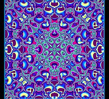 Blue and Pink Wallpaper Fractal by Rose Santuci-Sofranko