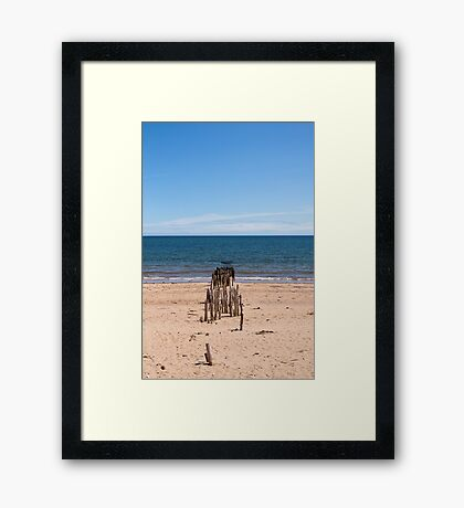 Out to sea Framed Print