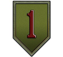 1st Infantry Division Logo - United States Army Photographic Print