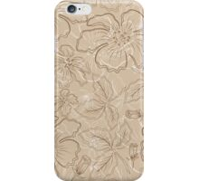 brown flowers iPhone Case/Skin