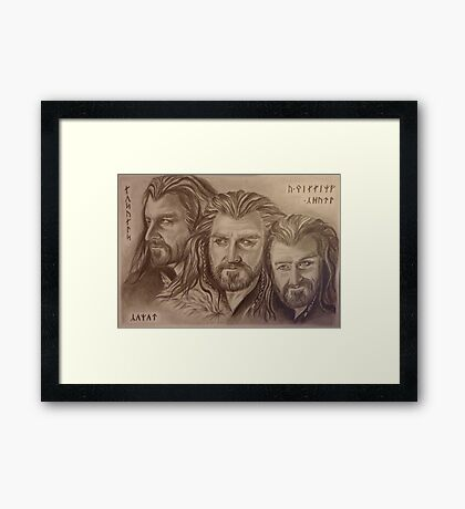 Thorin Oakenshield, a willing heart... Framed Print