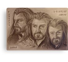 Thorin Oakenshield, a willing heart... Canvas Print